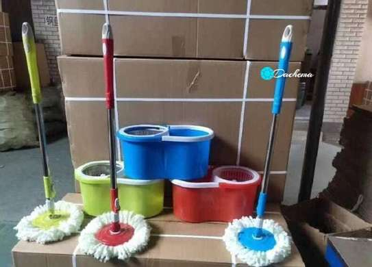 quality spin mops with buckets image 2