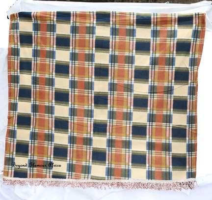 Beige/Green Soft Cotton Shawl image 1