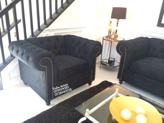 Black sofas/three seater sofa/one seater sofas/four seater sofa image 1