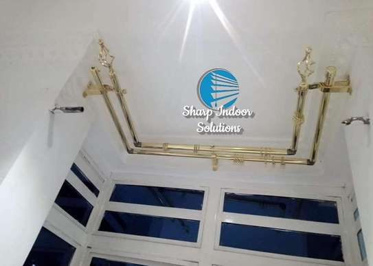 3m double curtain rods image 1