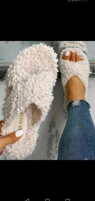 Ladies Open Fluffy sandals image 1