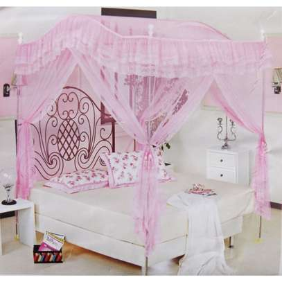 CURVED CANOPY MOSQUITO NET-PINK