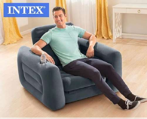 One Seater Inflatable Sofa with Free Electric Pump image 1