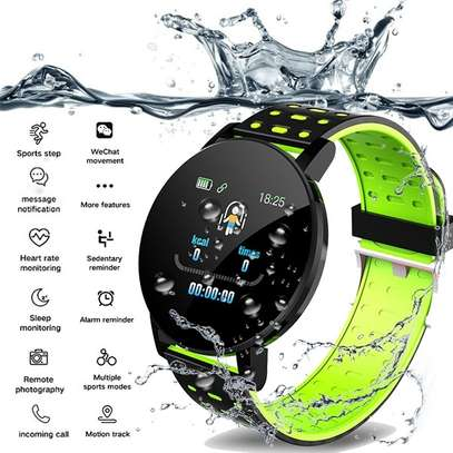 Fitness Tracker  with Heart Rate Blood Pressure   Step Calorie Counter Pedometer Waterproof  -Green image 2