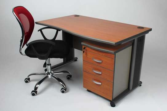 Superior Office Desk With Drawers image 1