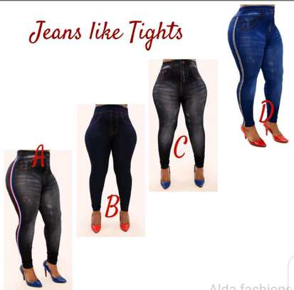 Ladies jeans like tights image 1