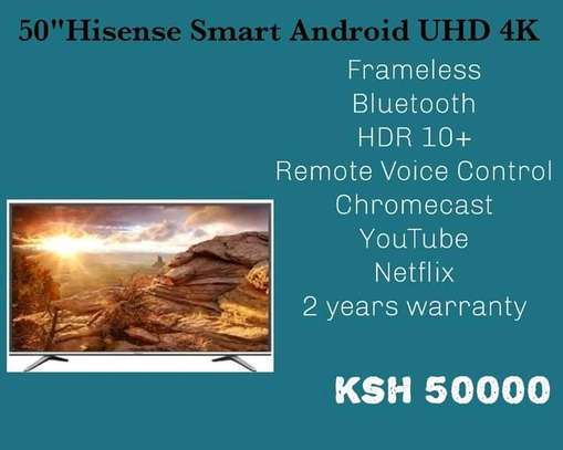 50 inch Hisense Android Frameless Bluetooth+Free Wall Mount image 1