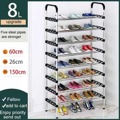 Multilayered (flowered) shoe rack image 1