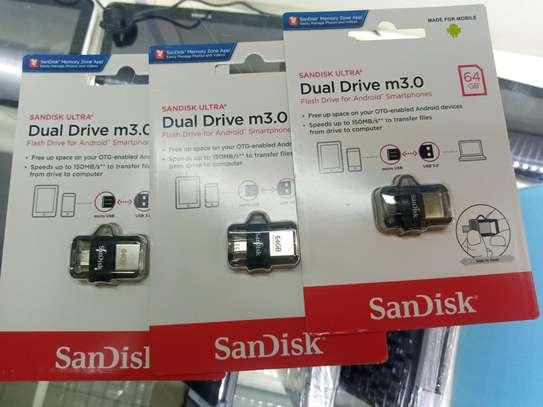 Buy Sandisk Ultra Dual drive – USB 3.0 OTG – 64GB Flash disk image 1