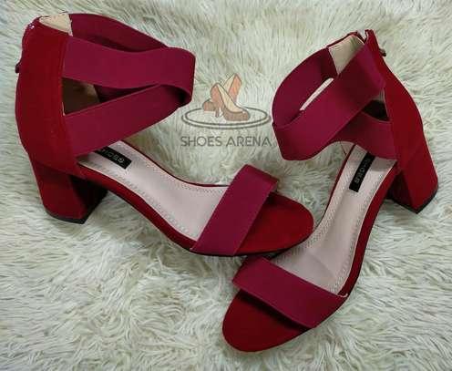 Open chunky heels image 7