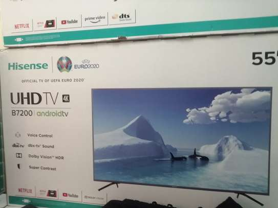 "Hisense 55"" inches smart uhd android tv image 1"
