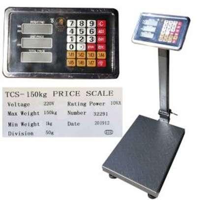 150Kg Capacity Electronic Platform Scale. image 1