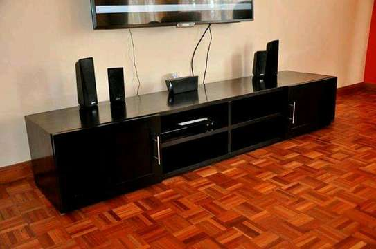 6ft Black TV Stand