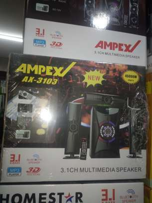 Ampex A-3103 3.1ch Multimedia Woofer 4500W PMPO - Bluetooth image 1