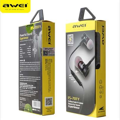 Awei ES70TY In-ear Earphone Metal Heavy Bass Sound Headset With MIC image 2