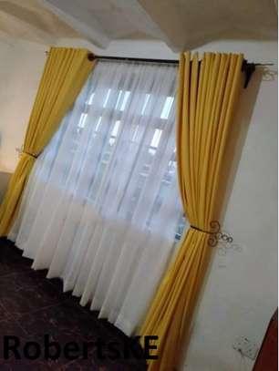 linen yellow curtain image 1