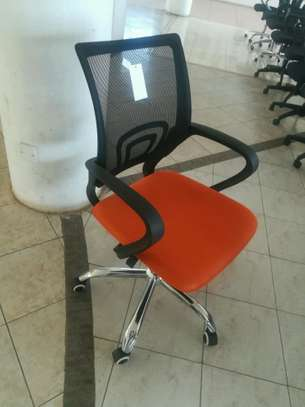 Mesh chairs orange