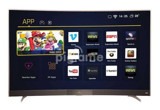 TCL 55 inch digital smart curved 4k tv image 1