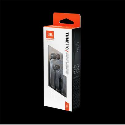 Jbl Tune 110 (T110) In-Ear Headphones-Black image 2