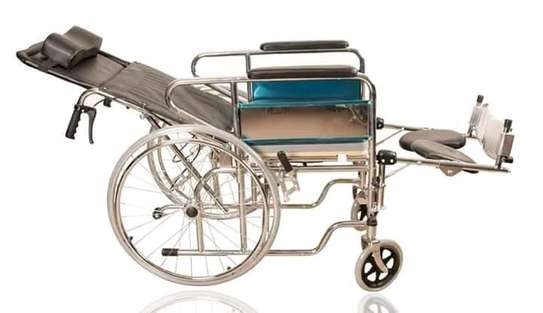 Brand new high back recliner wheelchairs with or without commode