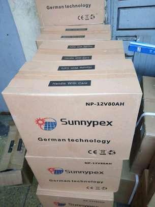 Sunnypex solar batteries 80AH image 1