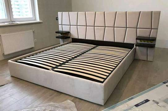 Latest bed designs/kingsize beds/6*6 luxury beds image 1
