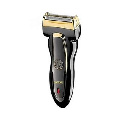 Black Rechargeable Shaver/Smother - Black And Gold
