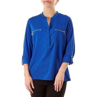 Blue Long Sleeved Shirt