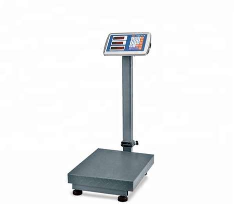 150kg  digital platform weighing scale with checkered steel plate image 1