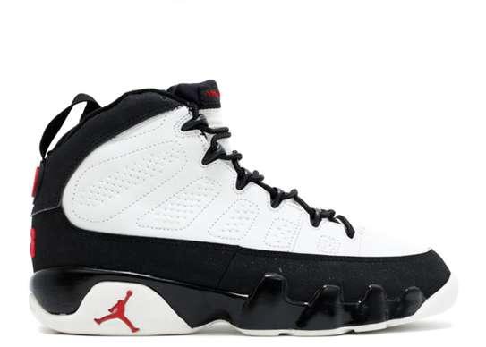 Jordan 9 Retro White Black Red image 2