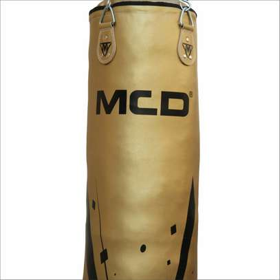 MCD Punching Bag 5 FT UNFILLED Set Kick Boxing Heavy MMA Training with Gloves Punching Mitts Hanging Chain Muay Thai Martial Arts image 2