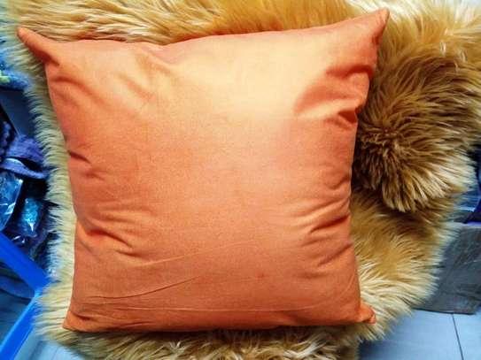 Plain Orange Throw Pillow Covers image 1