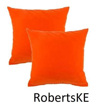 orange soft throw pillow image 1