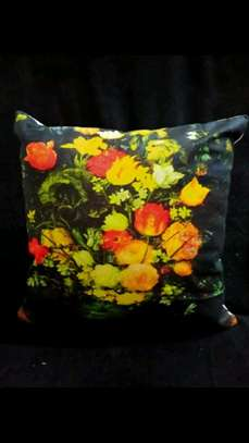 Floral throw pillow image 1