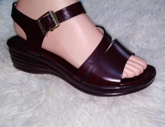 Maroon Open Shoes