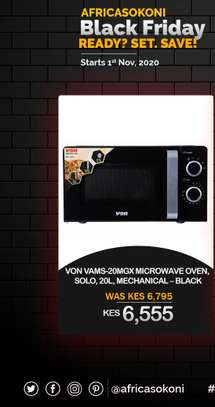 Von 20L Solo Mechanical Microwave Oven image 1