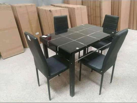 Glasstop dining tables(4/6 seaters) image 1