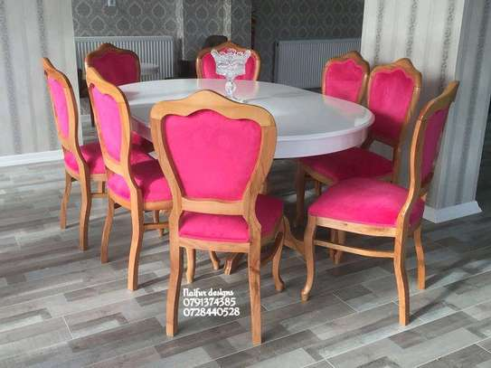 Eight seater pink dining set/dining sets for sale in Nairobi Kenya image 1