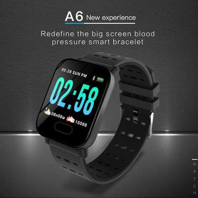 A6 Smart Watch Activity Fitness Tracker Heart Rate Monitor-Black image 1