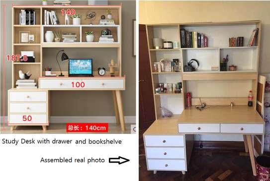 Study Desk with Bookshelve image 1
