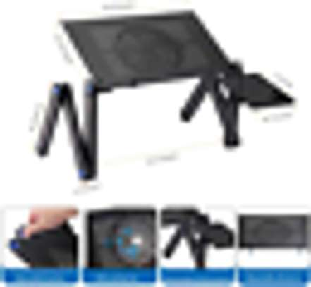 Generic Adjustable Laptop Table Computer Stand With Mouse Pad In Bed Couch Office image 1