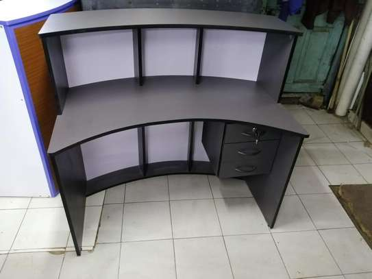 Curved office Reception desk image 8