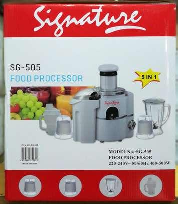 Signature 5 in 1 Food Processor /Blender image 1