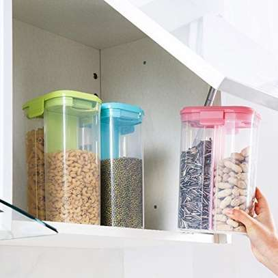 Airtight Container Jar With 2 Compartments For Lentils, Grains, Cereal, Rice , Snacks
