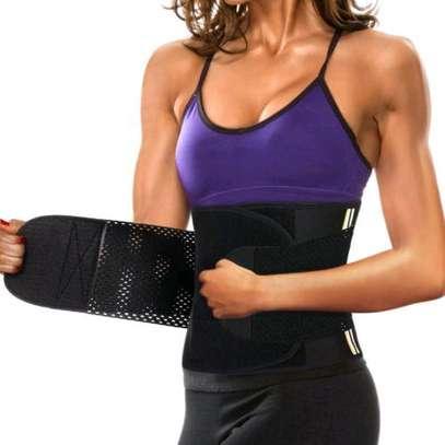 Fashion Women Neoprene Sauna Sweat Belt Waist Trainer Corset Slimming Body Shaper For Weight Loss Workout image 2