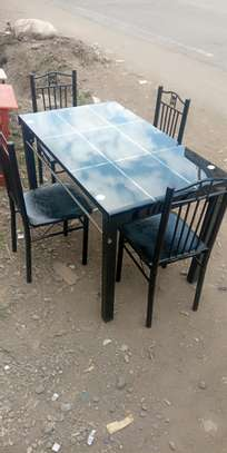 Kitchen and dining room table with 4 seats image 1