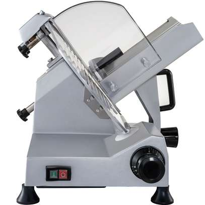 """Food and Meat Slicer 10"""" Blade Big Sliced Meat Exit Behind the Machine for Slice Meat Sliding Out Quickly image 5"""