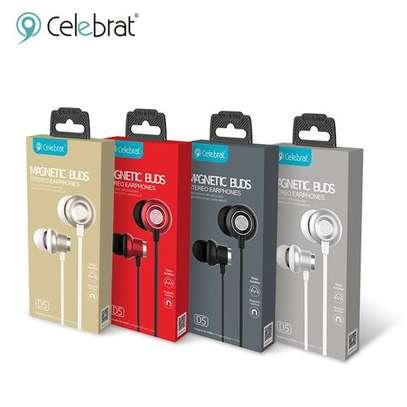 Celebrat D5 Metal Wired Earphone Sport In Ear Hifi Bass Stereo Headset image 2