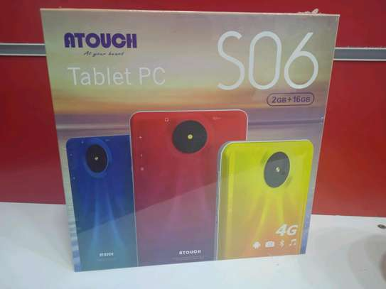 Tablets 16gb 2gb ram - 5mp camera+4G internet (Atouch S06) in shop image 2