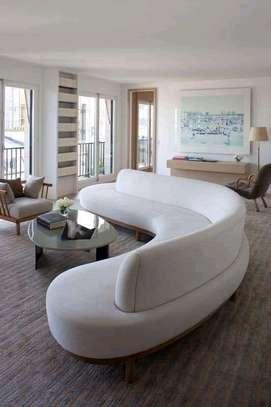 Round/swivel classic sectional U-sofas image 6